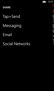 Charming Share on Windows Phone 8